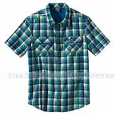 Jack Wolfskin Faro Shirt Men 1400751-7353 Jack Wolfskin ao so mi jack wolfskin ao chong nang