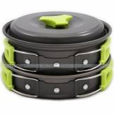 MalloMe Camping Cookware Mess Kit Backpacking Gear & Hiking Outdoors Bug bộ nồi nấu ăn dã ngoại
