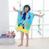 Creative 3D Printing Diving Boy Child Hooded Cape Cloak Fiber Towel khăn tắm trẻ em