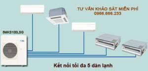 Dàn nóng 1 chiều điều hòa multi Daikin 5MKS100LSG 34,100BTU