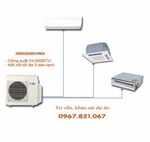Dàn nóng điều hòa multi Daikin 2 chiều 3MXS68EVMA 24,000BTU