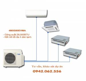 Dàn nóng điều hòa multi Daikin 2 chiều 4MXS80EVMA 28,000BTU