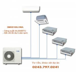 Dàn nóng điều hòa multi Daikin 2 chiều 5MXS100LVMA 34,000BTU