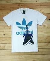 Adidas cổ tròn màu trắng