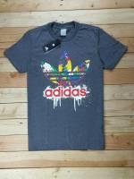 Adidas cổ tròn màu xám đậm