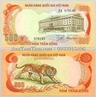 Tiền con hổ 500 Dong 1972