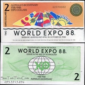 Australia - 2 dollars BICENTENNIAL WORLD EXPO