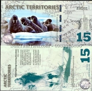Arctic Territories 15 Polar Dollars 2011