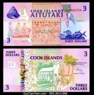 Cook islands - 3 dollars - 1992 - UNC