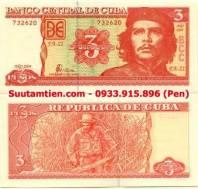 Cuba 3 pesos 2004 Hình ảnh ông Che