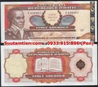 Haiti 20 Gourdes 2001 Tiền kỷ niệm mạ vàng