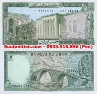 Li băng - Lebanon 5 livers 1986