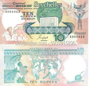 Seychelles 10 rupees 1989