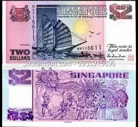 Singapore 2 Dollar 1992