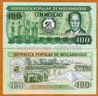 Mozambique 100 Meticais 1989