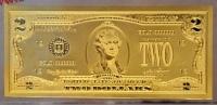 2 usd mạ vàng Hongkong