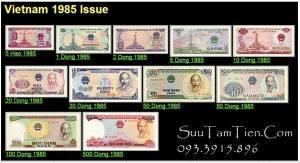 Bộ Tiền Việt Nam 1985 gồm 11 tờ