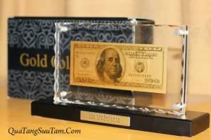 100 USD MẠ VÀNG 24 KARA