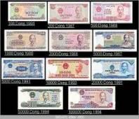 Bộ tiền cotton Việt Nam từ năm 1987 tới nay