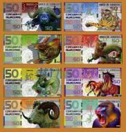 Bộ tiền Kamberra 8 tờ 8 con giáp