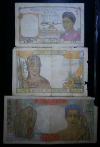 Bộ 3 tờ Đông Dương 1 5 100 đồng vàng