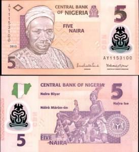 NIGERIA - 5 naira 2013 polymer - UNC