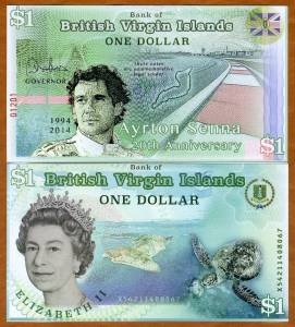 British Virgin Islands, 1 dollar, 2014 POLYMER, QEII UNC