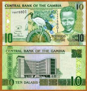 Gambia, 10 Dalasis, ND (2006), 2013 Issue, P-26-New, UNC