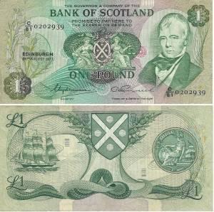 SCOTLAND 1 POUND 1971 (P111a)