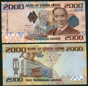 Sierra Leone 2000 Leones 2010 UNC