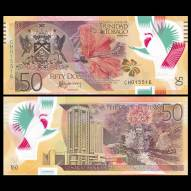 Trinidad and Tobago 50 Dollars, 2014, P-54, Polymer, UNC