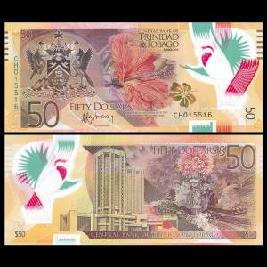 Trinidad and Tobago 50 Dollars, 2014, P-54, Polymer, UNC