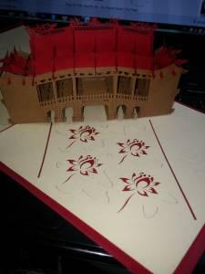 Thiệp 3D chùa cầu Hội An