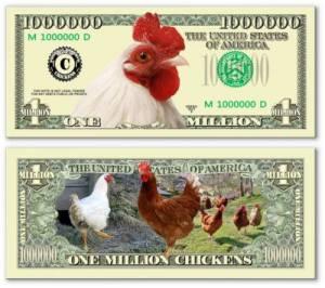 1 triệu đô con gà