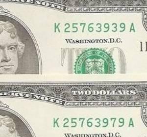 Cặp 2 đô 3939 - 3979 seri Thần Tài