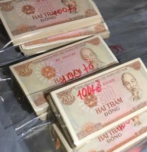 100 tờ 200 đồng 1987 chất lượng 80 - 85%