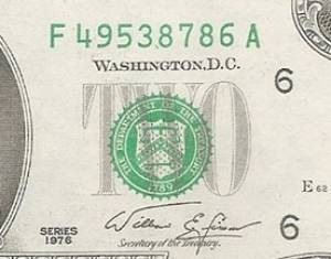 2 đô Phát Lộc 86 - 79 - 39 năm 1976