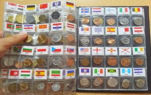 Bộ Tiền Xu Thế Giới 180 Nước Có Cờ và Tên Nước
