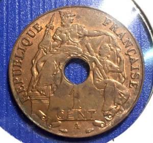 Đông Dương Xu 1 cent Bách Phân Chi Nhất 1939