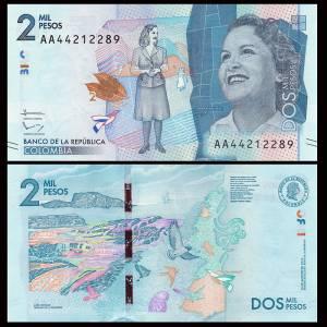 Colombia 2000 2,000 Pesos, 2015(2016)