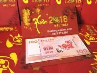 Thiệp và tiền Macao 100