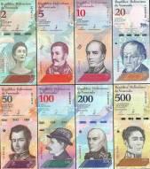 Bộ tiền Venezuela mới 2018-2019