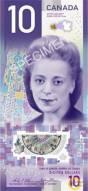 10 đô Canada hình Nữ Hoàng