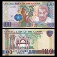 Gambia 100 Dalasis 2010 UNC