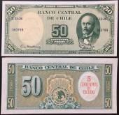 Chile-50-Pesos-UNC-1960