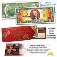 Bộ 2 USD mạ vàng hình con Chuột 2020 UNC