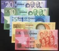 Bộ Ghana Set 5 tờ UNC 2014-2017
