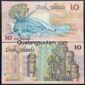 Cook-Island-10-Dollar-AUNC-UNC-1987