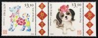 Bộ Aitutaki 2018 - Chúc mừng năm mới - Năm con chó - 2 con