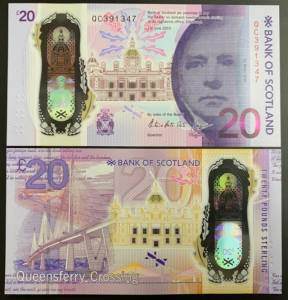 Scotland 20 Pounds Polymer NEW LIMITED 2020 -Bản Giới Hạn